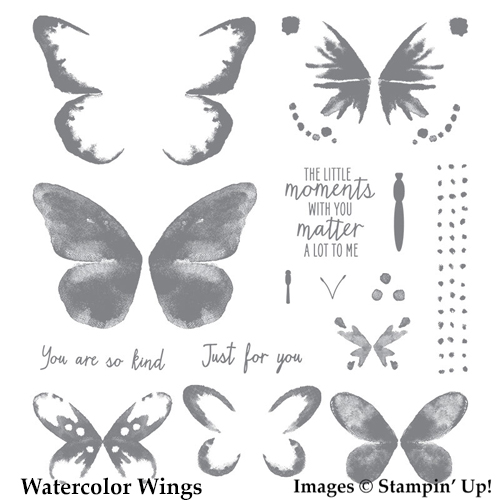 Watercolor Wings stamp set from Stampin' Up! cardmaking, stampinup, handmade cards, http://bit.ly/ShopwithSara theartfulinker, saralevin