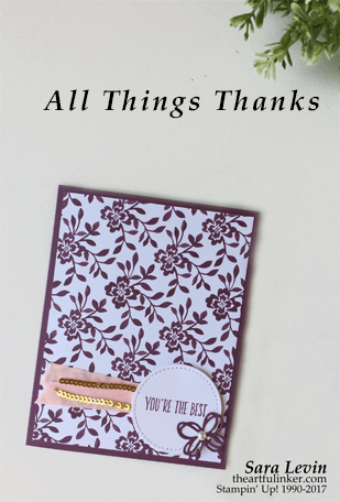All Thins Thanks Fast Friday card from theartfulinker.com