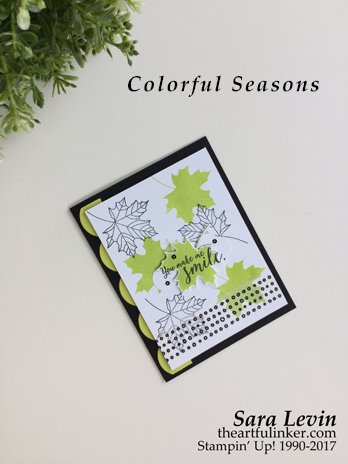 Colorful Seasons card for Stamping Sunday Blog Hop from theartfulinker.com