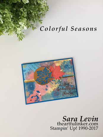 Colorful Seasons Oxidized Card from theartfulinker.com