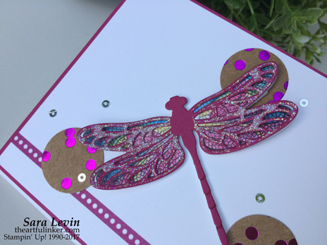 Dragonfly Dreams for Stamping Dreams Blog Hop - detail - from theartfulinker.com