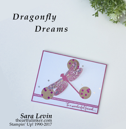 Dragonfly Dreams for Stamping Dreams Blog Hop from theartfulinker.com