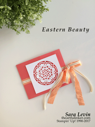 Eastern Beauty Gate Fold with Eastern Medallions die cut from theartfulinker.com