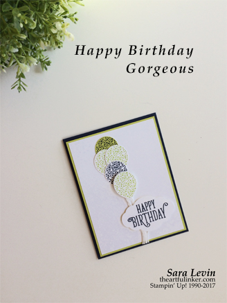 Happy Birthday Gorgeous card for Creation Station from theartfulinker.com