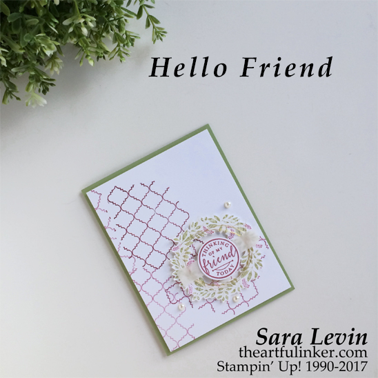 Hello Friend for GDP092 from theartfulinker.com