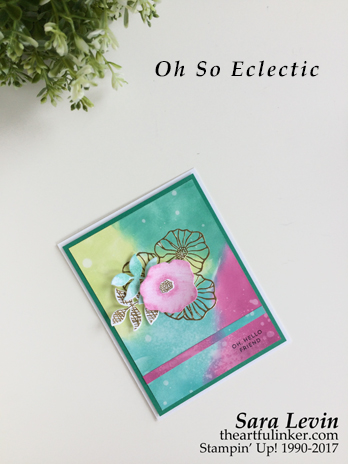 Oh So Ecletic Oxidized technique card from theartfulinker.com