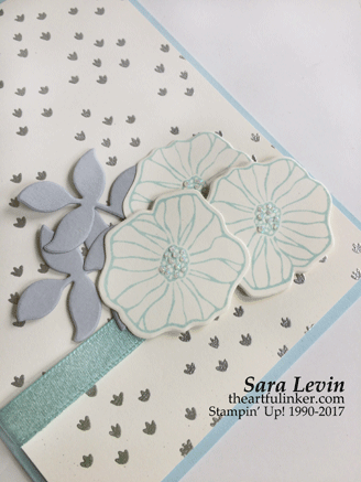 Oh So Eclectic in Soft Sky card - embellishment detail - from theartfulinker.com