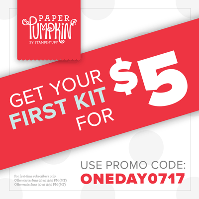One Day Paper Pumpkin Deal Promo Code: ONEDAY0717