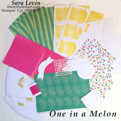 One in a Melon Paper Pumpkin Kit, June 2017 from theartfulinker.com