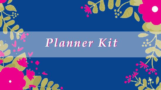 Planner Kit Banner