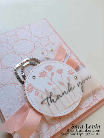 Background Bits for Creation Station - Powder Pink card detail - from theartfulinker.com