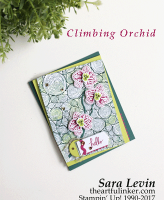 Climbing Orchid for TGIFC115 from theartfulinker.com