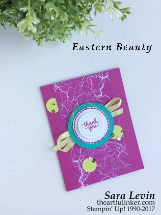 Eastern Beauty with Color Theory designer paper card from theartfulinker.com