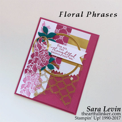 Floral Phrases for Stamping Sunday Blog Hop - Fancy Foil card from theartfulinker.com