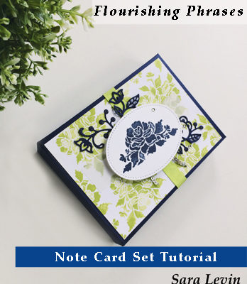 Flourishing Phrases Note Card Set Tutorial free with $50 purchase from my online store - theartfulinker.com