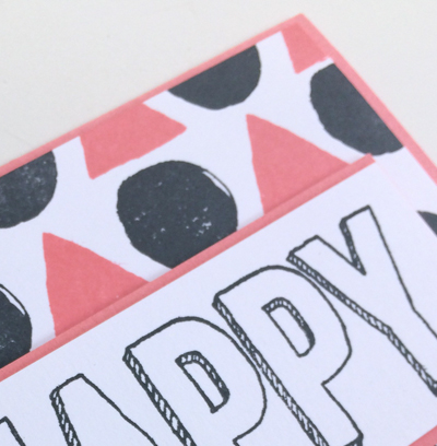 Happy Celebrations Color Combo card using Calypso Coral and Basic Black from theartfulinker.com