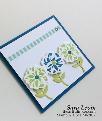 Lovely Friends Square Card - detail - from theartfulinker.com