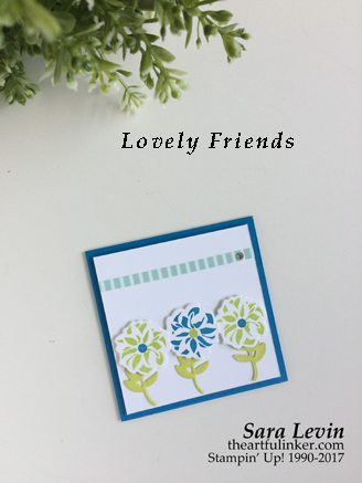 Lovely Friends Square Card from theartfulinker.com