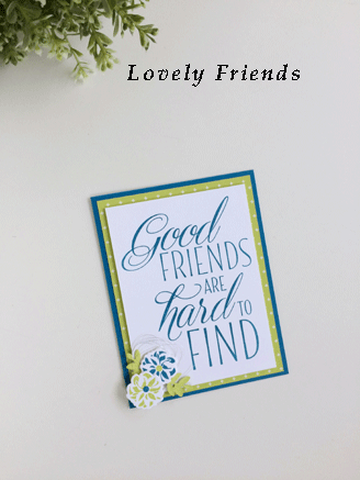 Lovely Friends for Fast Friday card from theartfulinker.com