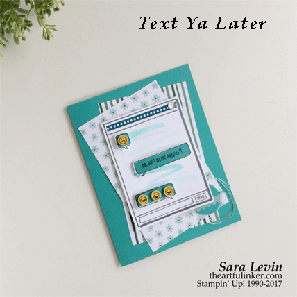 Text Ya Later First Inking humorous card from theartfulinker.com