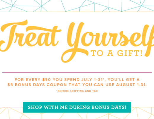Treat Yourself during Bonus Days. Purchase $50 in product and receive a Bonus Days Coupon to use in August from theartfulinker.com