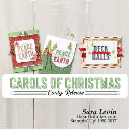 Carols of Christmas early release! Get your stamp set and the coordinating framelits from theartfulinker.com