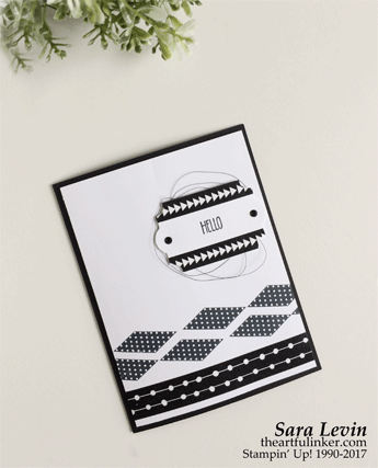 Christmas Quilt Fast Friday card in black and white from theartfulinker.com