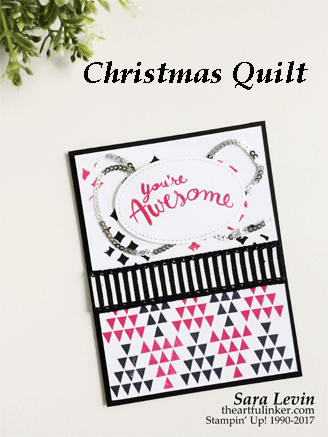 Christmas Quilt for Stamping Sunday from theartfulinker.com