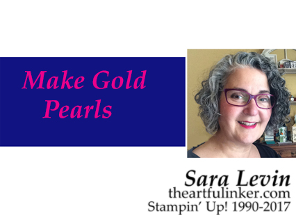 How to Make Gold Pearls a video by theartfulinker.com