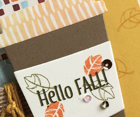 Painted Autumn Merry Cafe card from theartfulinker.com