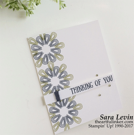 Paper Pumpking Giftable Greetings clean and simple alternative card from theartfulinker.com