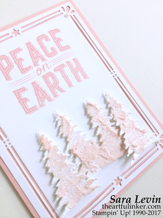 Powder Pink Carols of Christmas card detail view from theartfulinker.com