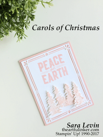 Powder Pink Carols of Christmas card from theartfulinker.com
