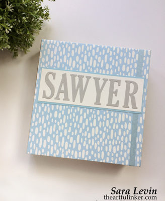 Personalized Memories and More for Sawyer - a customized scrapbook album from theartfulinker.com