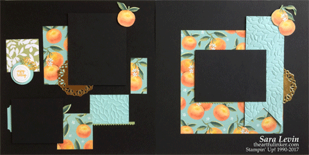 Whole Lot of Lovely double scrapbook page layout