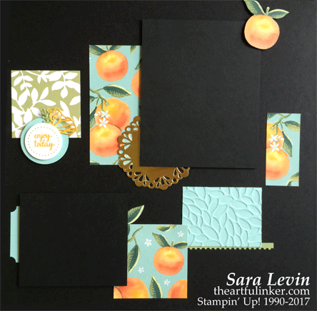 Whole Lot of Lovely Scrapbook Page 1 from theartfulinker.com