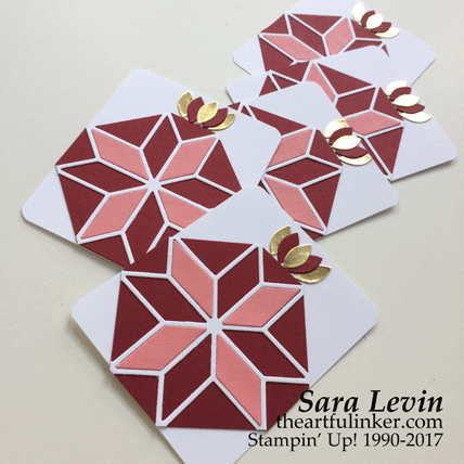 Christmas Quilt Pomegranate tags from theartfulinker.com