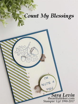 Count My Blessings for GDP103 masculine card from theartfulinker.com