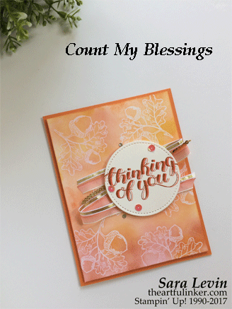 Count My Blessings in Shades of Fall card from theartfulinker.com