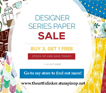 Designer Paper BOGO sale from theartfulinker.com Go to http://bit.ly/ShopwithSara