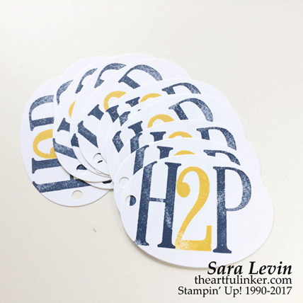 H2P tags for Creation Station Blog Hop ABCs of Stamping from theartfulinker.com