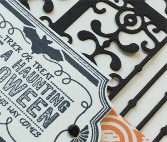Stamping Sunday blog hop Labels to Love Halloween card from theartfulinker.com