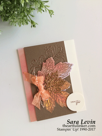 Layered Leaves Paper Pumpkin kit alternate card from theartfulinker.com