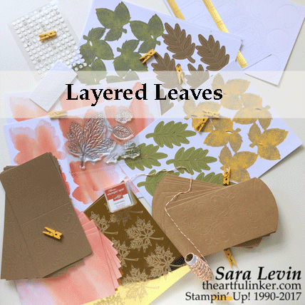 Layered Leaves September 2017 Paper Pumpkin Kit from theartfulinker.com