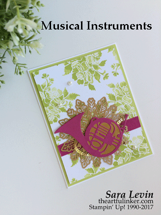 Musical Instruments in Berry Burst from theartfulinker.com