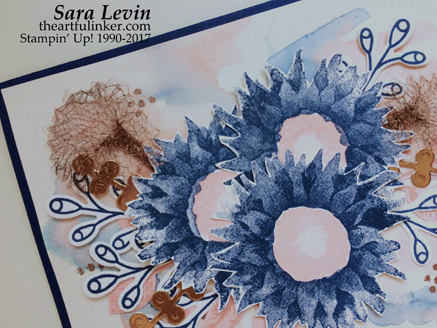 Stamping Sunday Blog Hop - Painted Harvest card detail from theartfulinker.com