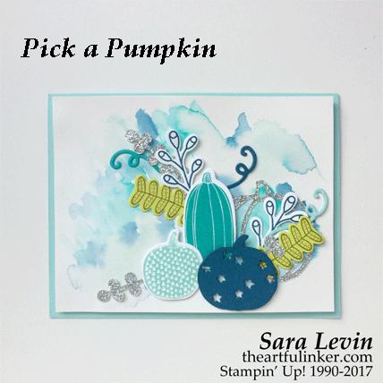 Pick a Pumpkin in blue card from theartfulinker.com