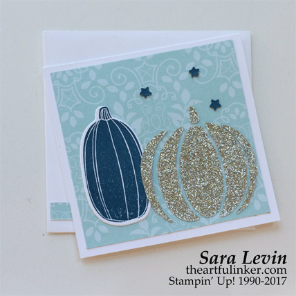 Pick a Pumpkin Petal Garden card in blue from theartfulinker.com