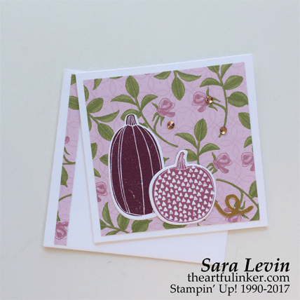Pick a Pumpkin Petal Garden card in Sweet Sugraplum from theartfulinker.com