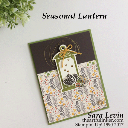 Seasonal Lantern with Painted Autumn card from theartfulinker.com
